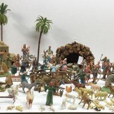 Figuras de Belén: ANTIGUAS FIGURAS BELEN DE PLASTICO. Lote 219097187