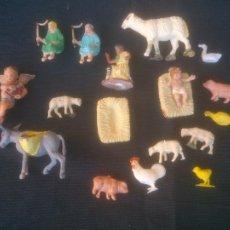 Figuras de Belén: BELEN ANTIGUAS FIGURAS PESEBRE. EN PLÁSTICO.. Lote 220801600