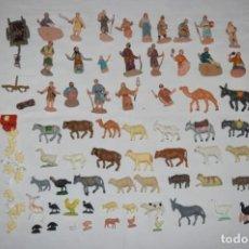 Figurines pour Crèches de Noël: LOTE FIGURAS DE BELÉN ANTIGUO / AÑOS 60 / 70 - OLIVER, PUIG, PECH... ¡MIRA FOTOS/DETALLES!. Lote 221135073