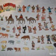 Figuras de Belén: LOTE FIGURAS DE BELÉN ANTIGUO / AÑOS 60 / 70 - OLIVER, PUIG, PECH... ¡MIRA FOTOS/DETALLES!. Lote 221151005