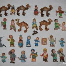 Figuras de Belén: VINTAGE - LOTE FIGURAS DE BELÉN - FIGURAS ANTIGUAS, AÑOS 60 / 70 - CABEZUDOS / CABEZONES - ¡MIRA!. Lote 221151435