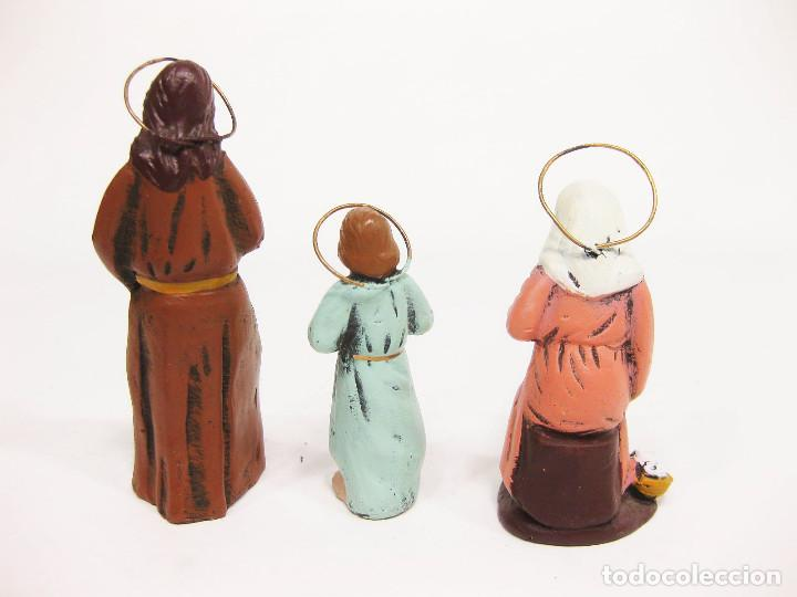 Figuras de Belén: Figuras de barro para nacimiento de 12 cm. La sagrada Familia. San José Carpintero. - Foto 3 - 222044608