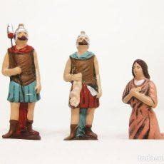 Figuras de Belén: FIGURAS DE BARRO PARA NACIMIENTO DE 12 CM. ESCENA DE LA DEGOLLACIÓN.. Lote 222046086