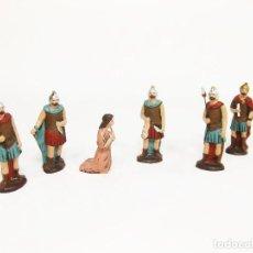 Figuras de Belén: FIGURAS DE BARRO PARA NACIMIENTO DE 12 CM. ESCENA DE LA DEGOLLACIÓN.. Lote 222046690