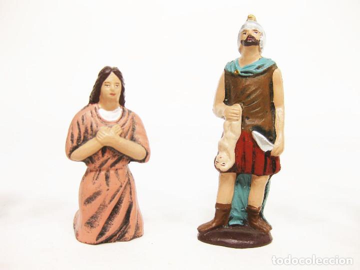 Figuras de Belén: Figuras de barro para nacimiento de 12 cm. Escena de la Degollación. - Foto 3 - 222046690