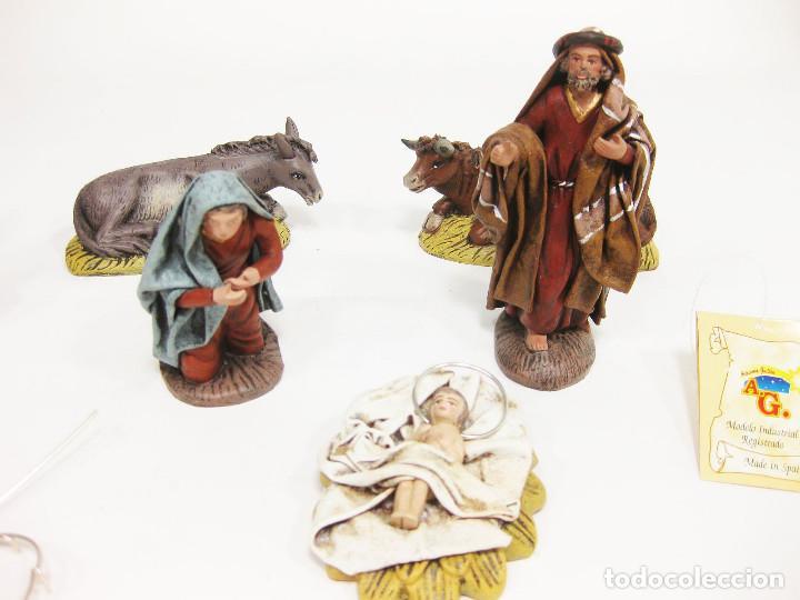 Figuras de Belén: Figuras de barro para nacimiento de 12 cm. Nacimiento. Artesanía Guillén. Murcia. - Foto 3 - 222047868