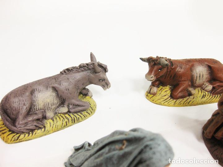 Figuras de Belén: Figuras de barro para nacimiento de 12 cm. Nacimiento. Artesanía Guillén. Murcia. - Foto 5 - 222047868