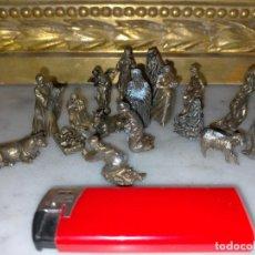 Figuras de Belén: NACIMIENTO MINIATURA BELEN MUY PEQUEÑITO VER TODAS LAS FOTOS VIRGEN SAN JOSE NIÑO JESUS REYES MAGOS. Lote 222070766