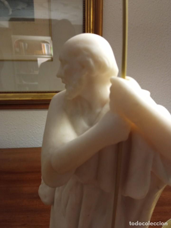 PASTOR DE MARMOLINA SIN POLICROMAR (Coleccionismo - Figuras de Belén)