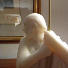Figuras de Belén: PASTOR DE MARMOLINA SIN POLICROMAR. Lote 222260140
