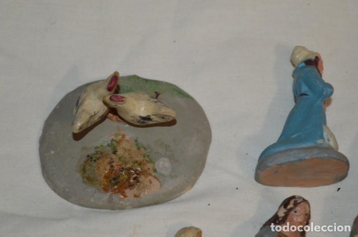 Figuras de Belén: Lote figuras variadas / BELÉN ANTIGUO / De BARRO, TERRACOTA o similar ¡Mira fotos/detalles! Lote 02 - Foto 4 - 222482505