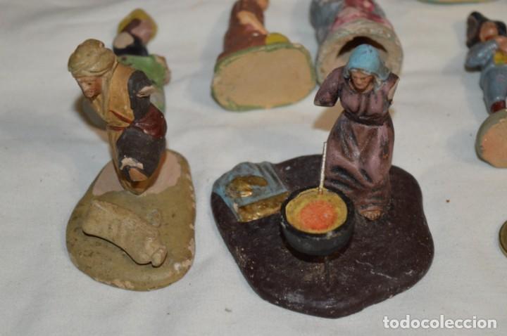 Figuras de Belén: Lote figuras variadas / BELÉN ANTIGUO / De BARRO, TERRACOTA o similar ¡Mira fotos/detalles! Lote 02 - Foto 10 - 222482505
