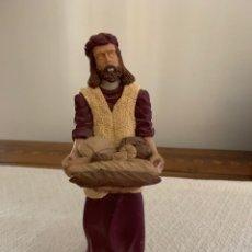 Figuras de Belén: PANADERO DE YESO, FIGURA DE BELÉN, ALTURA 21 CM. Lote 222665341