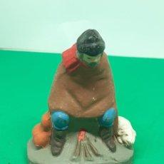Figuras de Belén: FIGURA BELEN BARRO ARCILLA PASTOR. Lote 222835347