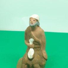 Figuras de Belén: FIGURA BELEN BARRO ARCILLA PASTOR. Lote 222835425