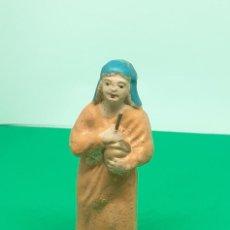 Figuras de Belén: FIGURA BELEN BARRO ARCILLA PASTORA. Lote 222836116