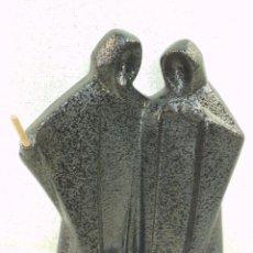 Figuras de Belén: NACIMIENTO CERÁMICA ( ESMALTADO -NEGRO ). Lote 222849431