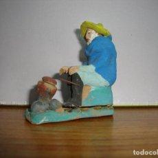 Statuine di Presepe: FIGURA BELEN BARRO PARA DIORAMAS PASTORES. Lote 224295040