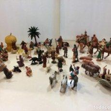 Figuras de Presépios: BELEN DE PLASTICO - PUIG, PECH, OLIVER,.... AÑOS 60-70'S 6-6,5 CM. Lote 224483191