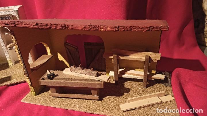 Figuras de Belén: Lotes de 3 casas para nacimiento o portal de Belén - Foto 2 - 224652765