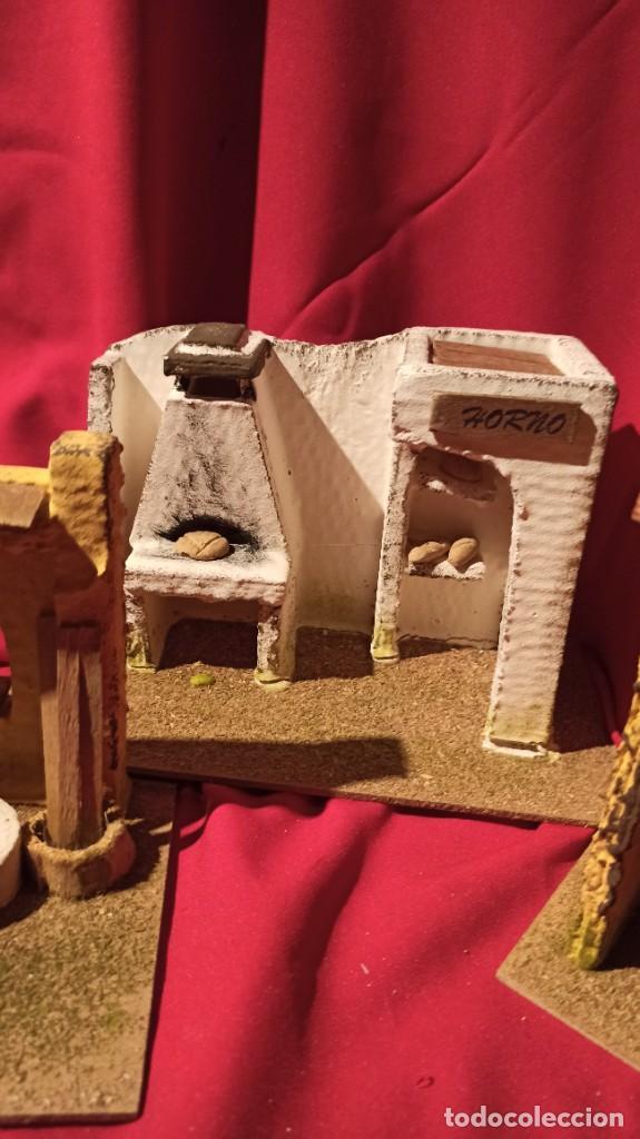 Figuras de Belén: Lotes de 3 casas para nacimiento o portal de Belén - Foto 3 - 224652765