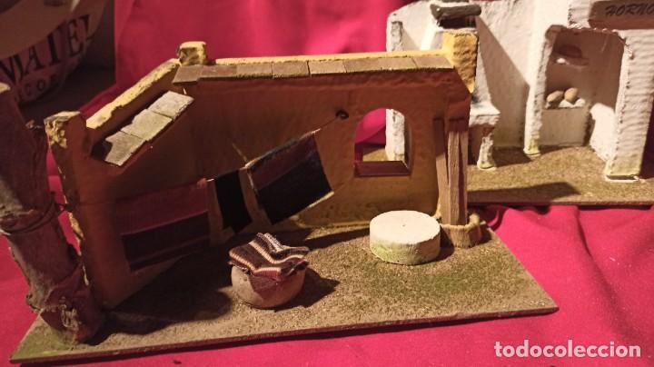 Figuras de Belén: Lotes de 3 casas para nacimiento o portal de Belén - Foto 4 - 224652765
