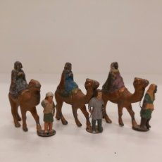 Figuras de Presépios: FIGURAS BELEN PLOMO REYES MAGOS 6CM. Lote 224875722