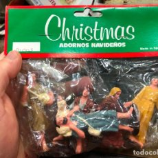Figurines pour Crèches de Noël: BLISTE CON 5 PASTOR Y PASTORAS PARA PORTAL DE BELEN - MEDIDAS 7 CM. Lote 224896257