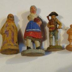 Figuras de Belén: LOTE DE 4 FIGURAS DE BELÉN O NACIMIENTO. PASTORES ,SAN JOSÉ.. Lote 225113953