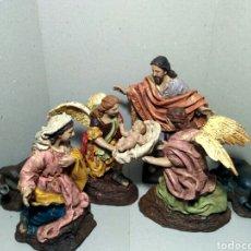 Figurines pour Crèches de Noël: FIGURAS DE BELEN REALIZADAS EN RESINA, NACIMIENTO SALZILLO. Lote 226451805