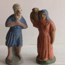 Figuras de Belén: 2 FIGURAS DE BELÉN DE BARRO. Lote 226483265