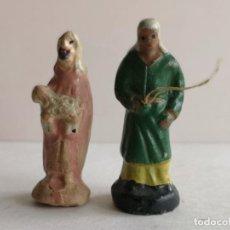 Figuras de Belén: 2 FIGURAS DE BELÉN DE BARRO. Lote 226491705