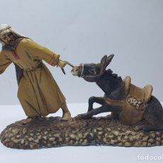 Figurines pour Crèches de Noël: PASTOR CON MULA LANDI ITALIA. Lote 227092025