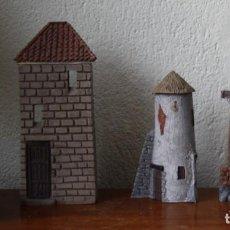 Figuras de Belén: LOTE 4 PIEZAS FIGURAS PARA PESEBRE BELEN NACIMIENTO – J. MAYO. EN RESINA, DEL PRADO COLECCION. Lote 227136934