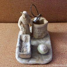 Figurines pour Crèches de Noël: ANTIGUA FIGURA DE TERRACOTA. Lote 227234315