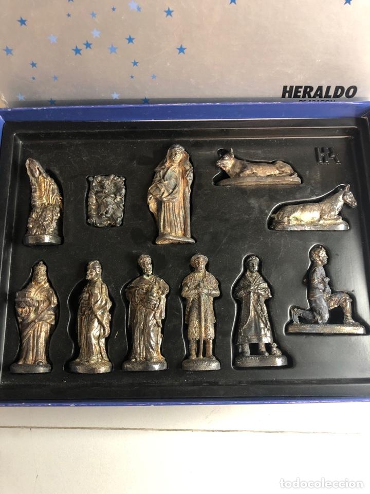 Figuras de Belén: Belen nacimiento en plomo heraldo de Aragon - Foto 2 - 227236007