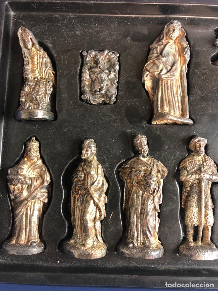 Figuras de Belén: Belen nacimiento en plomo heraldo de Aragon - Foto 3 - 227236007