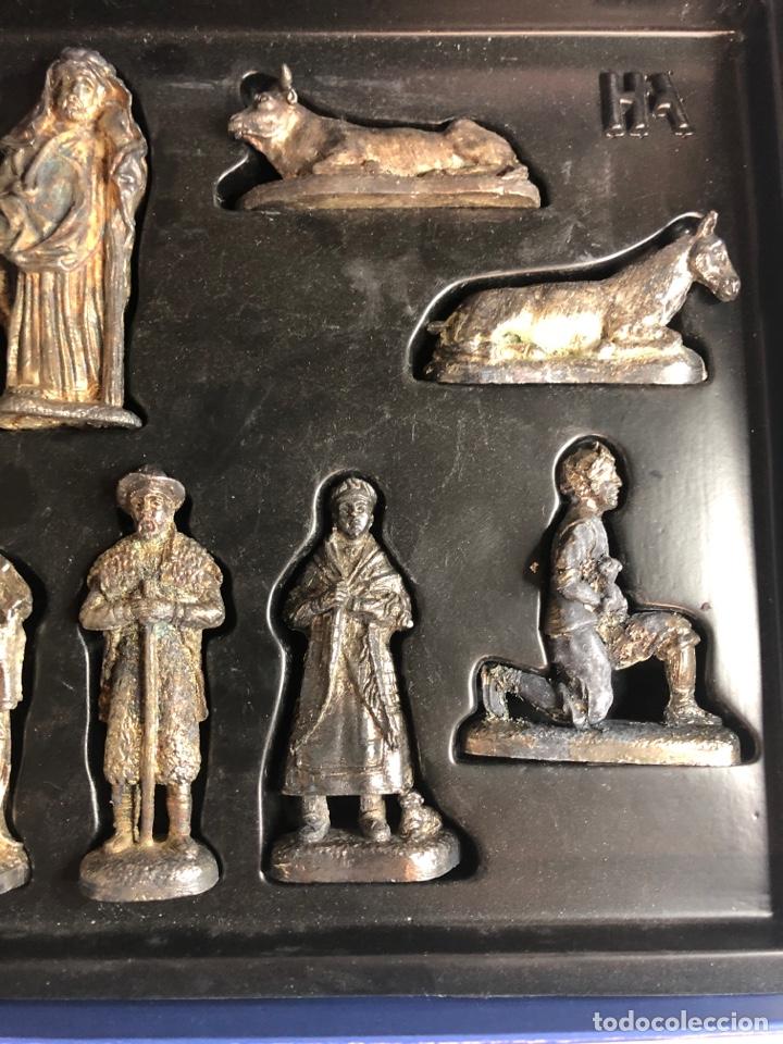 Figuras de Belén: Belen nacimiento en plomo heraldo de Aragon - Foto 4 - 227236007