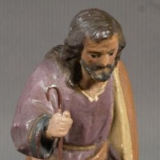 Statuine di Presepe: FIGURA DE BELÉN PASTOR EN BARRO PINTADO PRIMER TERCIO SIGLO XX. Lote 228033345
