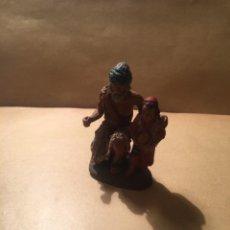 Figuras de Belén: ANTIGUA FIGURA DE BELEN DE BARRO FIRMADA DANIEL PERFECTO ESTADO 6,5 CM. ALTURA. Lote 228482260