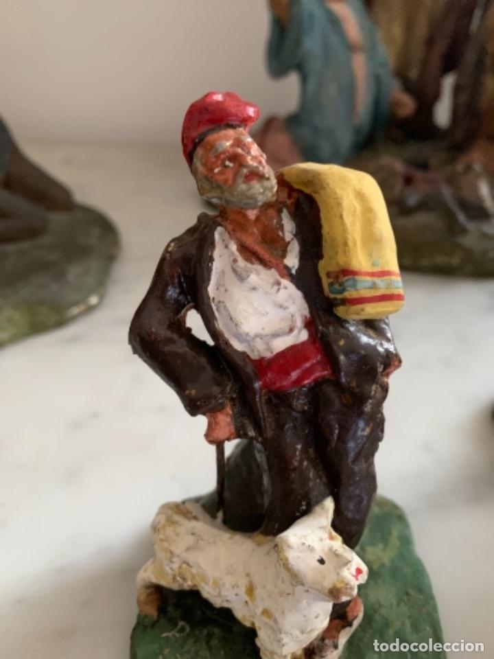 Figuras de Belén: Figura pesebre terracota antigua 13 cm - Foto 3 - 228554780