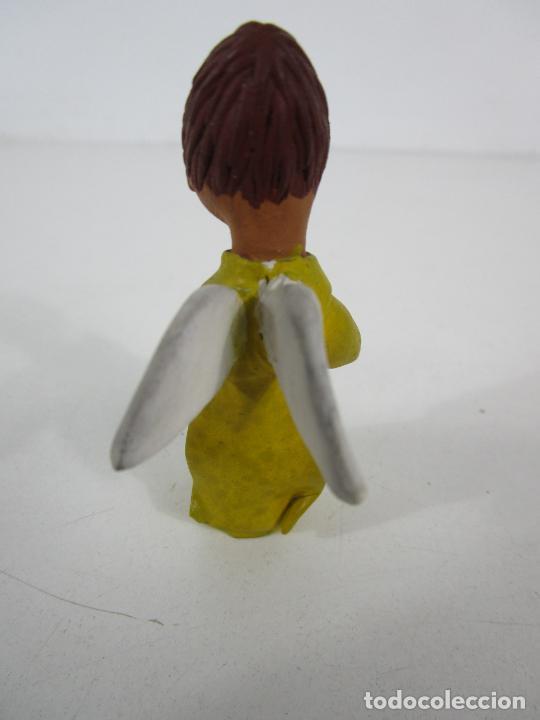 Figuras de Belén: Figura de Belén - Angelito - Terracota Policromada - Escultor Quera - Foto 4 - 228932600