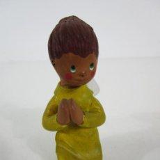 Figuras de Belén: FIGURA DE BELÉN - ANGELITO - TERRACOTA POLICROMADA - ESCULTOR QUERA. Lote 228932600