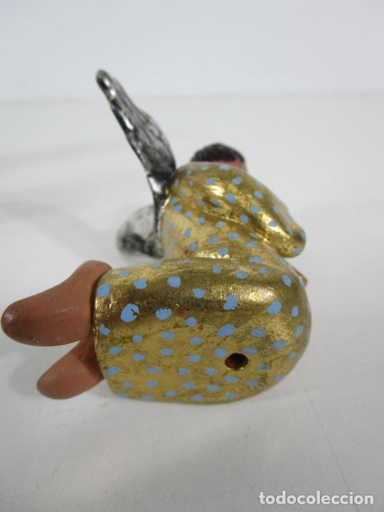 Figuras de Belén: Figura de Belén - Angelitos Músicos - Ángel Terracota Policromada y Dorado - Escultor Quera - Foto 10 - 228933510
