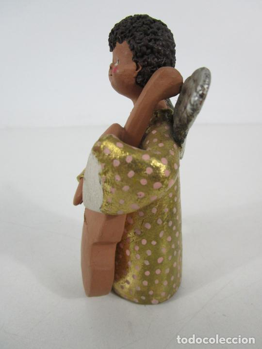 Figuras de Belén: Figura de Belén - Angelitos Músicos - Ángel Terracota Policromada y Dorado - Escultor Quera - Foto 27 - 228933510