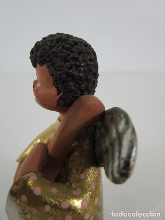 Figuras de Belén: Figura de Belén - Angelitos Músicos - Ángel Terracota Policromada y Dorado - Escultor Quera - Foto 29 - 228933510