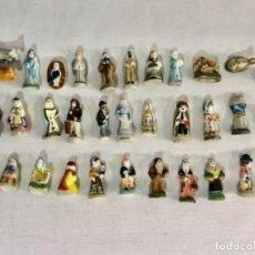Figuras de Presépios: BELÉN DE PORCELANA EN MINIATURA 34 PIEZAS ROSCÓN DE REYES 3,5 CM. Lote 227669505