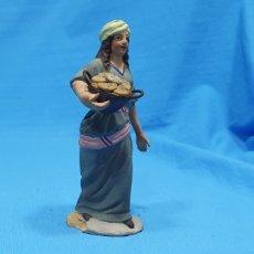 Statuine di Presepe: FIGURA DE BELÉN EN BARRO TERRACOTA MURCIANO - 11 CM APROX. Lote 230185765