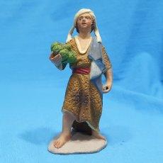 Statuine di Presepe: FIGURA DE BELÉN EN BARRO TERRACOTA MURCIANO - 11 CM APROX. Lote 230186305