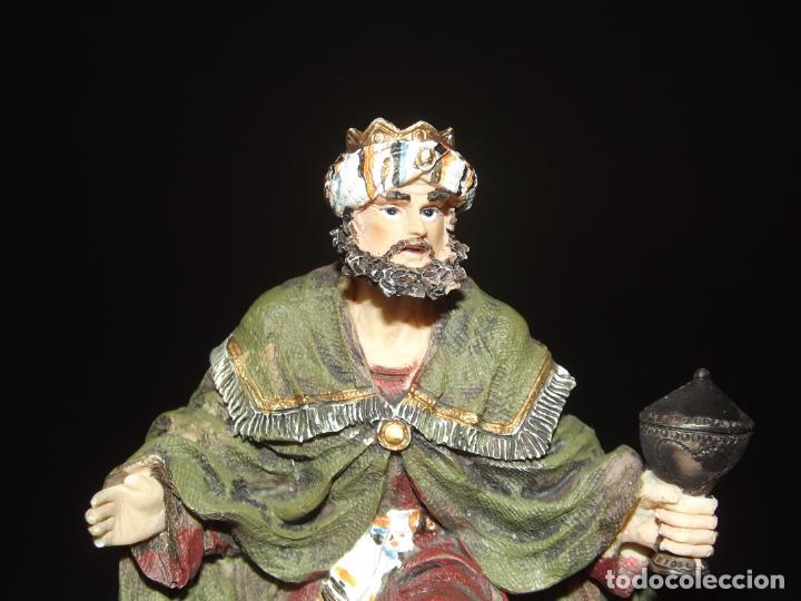 Figuras de Belén: 3 BONITOS REYES MAGOS PARA BELÉN - MARMOLINA - 12 CMS. LA MÁS ALTA - VER FOTOS ADICIONALES. - Foto 7 - 230893960